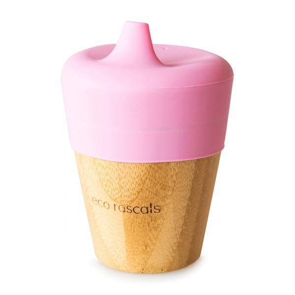 Bicchiere in bamboo con sipper in silicone Eco rascals