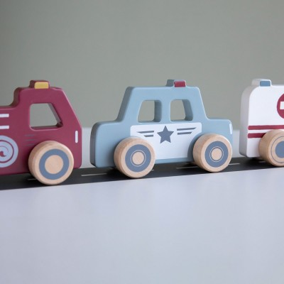 Set 3 automobili in legno Little Dutch