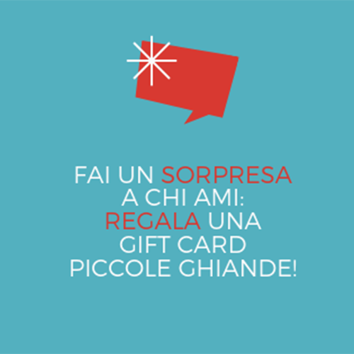 Le Gift Card di Piccole Ghiande, idea regalo!